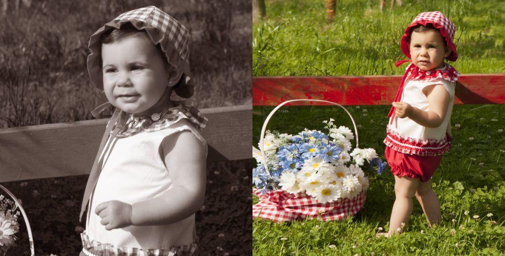 álbum de niños, Nerea con moda de Belén Costales