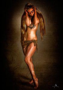 fotos de estudio con inspiración y maquillaje tribal