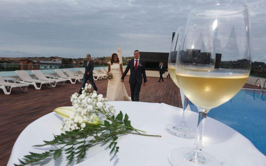 Una boda al atardecer
