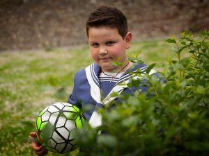 Primera Comunión y su pasión por el futbol