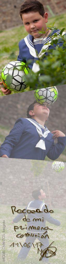 La Primera Comunión de Mateo y su pasión por el fútbol