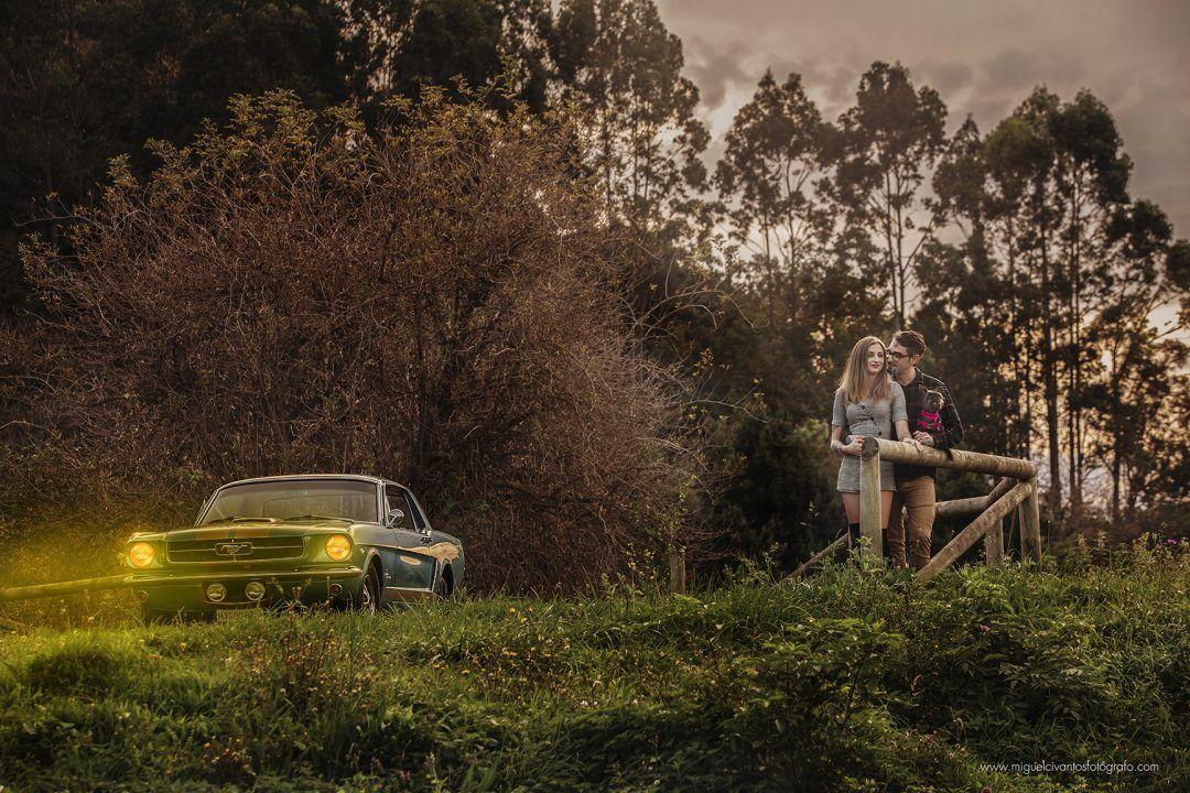 preboda en Asturias con Ford Mustang